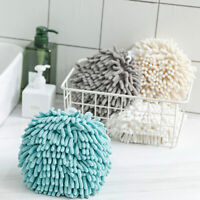 WR_ Kitchen Hand Towel Drying Bathroom Quick Dry Hanging Towel Ball Thick Pract