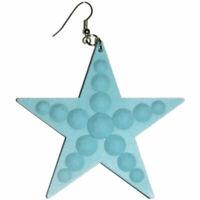 Big Plastic Star Earrings