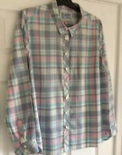 Joules Cheska Brushed Cotton Fitted Shirt Blouse Size 16 Pastel Shades