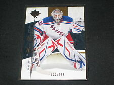 HENRIK LUNDQVIST RANGERS STAR GENUINE AUTHENTIC LIMITED EDITION HOCKEY CARD /399