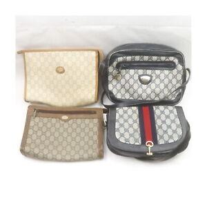 Gucci Gucci Plus PVC Shoulder Bag Clutch 4 pieces set 525251