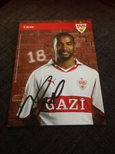 Cacau Germany Stuttgart Signed Official Club Photo Card