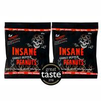 Insane Ghost Pepper Chilli Peanuts - Hot as Hell Seasoned Peanuts x 2 Packs