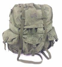 US Army ALICE LC-1 LARGE Field Pack OD Green w/ Frame, Straps, Belt USGI Good