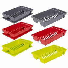 Plastic Dish Drainer Plate Cutlery Rack Kitchen Sink Utensil Draining Cup Holder