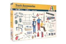 Italeri 3854 1/24 Model Kit Truck Accessories II Set Decal,Chromate Parts, Crane