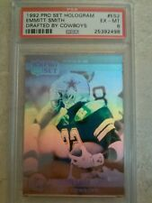 1992 Pro Set #ES2 Emmitt Smith HOLOGRAM PSA 6 Drafted By Cowboys  NEW CASE