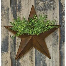 "Rusty Star 16"" Metal Wall Pocket"