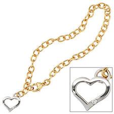 Echtschmuck aus Gelbgold mit Diamant-Hauptstein und Herz-Schliffform für Damen