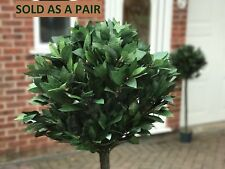 Artificial Bay Laurel Trees 4ft/120cm Pair Quality Natural Look Outdoor Weddings