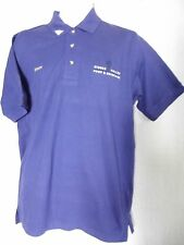 Mens Small HIDDEN VALLEY FOOD & BEVERAGE STAFF ROYAL BLUE POLO SHIRT 100% Cotton