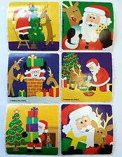 18  Christmas Holiday Stickers Party Favors Teacher Supply Santa Reindeer