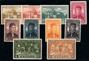 [38886] Spain 1930 Good airmail lot Very Fine MH stamps