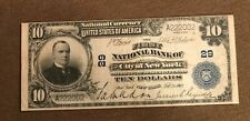 New York City , First National Bank 1902. $10 PB , Very Fine