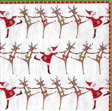 Christmas Paper Napkins 20 pack -  Christmas Can Can Caspari