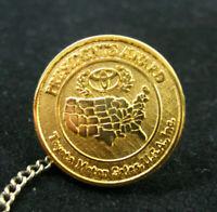 Toyota Motor Sales Presidents Award Tie Tack Lapel Pin Gold Tone