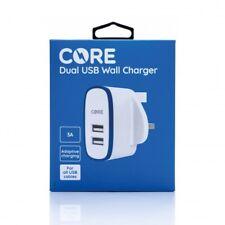 3AMP Fast Dual Twin 2 Port USB Charger UK Mains Wall Plug Adapter 3 Pin