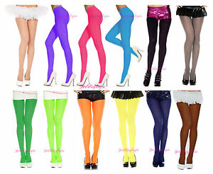 🔥🔥Plus Size OPAQUE COLORED TIGHTS Pantyhose Fits to 225 LBS 🌞 QUEEN