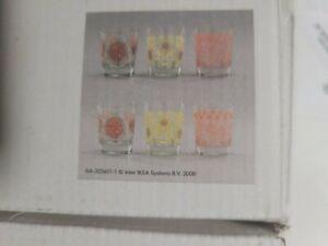 NIB Set 6 IKEA Busig Tumblers Frog Floral Mushroom Design Caroline Abild Jessen