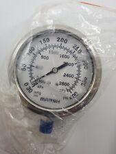 Marsh X32632p Pressure Gauge New Old Stock