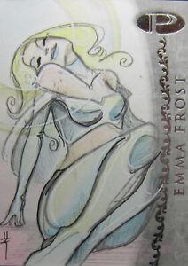 2012 Upper Deck Marvel Premier 1/1 Sketch Card - EMMA FROST by Sara Richard