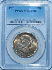 1951 Pcgs Ms66Fbl Franklin Half Dollar