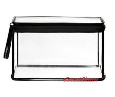 """MAC CLEARLY LARGE RECTANGLE CLEAR ZIPPERED MAKEUP COSMETIC BAG 8.5 x 5.38 x 5"""""""