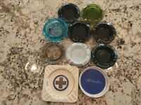 LOT of 10 Casino Bars and Hotel  Vintage Ashtrays Some Very Rare Finds