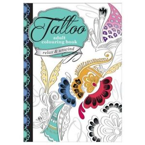 Chiltern Wove Adult Tattoo colouring book