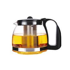 SCHÄFER Glas Teekanne Teesieb Teebereiter Teepot Glaskanne 1250ml Edelstahl Sieb