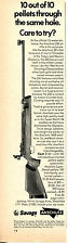 1969 Print Ad of Savage Anschutz 250 Pellet Air Rifle