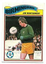 TOPPS FOOTBALLER 1978 GUM CARD - BIRMINGHAM - JIM MONTGOMERY