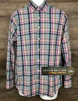 Peter Millar Summer Comfort Men's Multi-Color Long Sleeve Button Front Shirt M