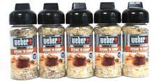 5 Ct Weber 3 Oz Steak N Chop Gluten Free No MSG Bold Flavor Seasoning BB 11/21