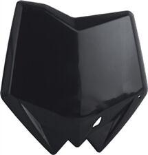 POLISPORT FRONT NUMBER PLATE (BLACK) Fits: Husqvarna CR 125,WR 125,WR 250,SMR 45