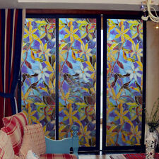 Frosted Privacy Window Glass Static Adhesive Film Sticker 45x100cm Flowers