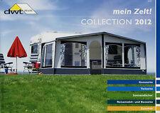 Prospekt DWT Zelte 2012 Katalog Vorzelte Teilzelte Reisemobil-Zelte Buszelte Zub