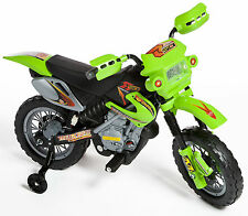 New Kids Ride On Car Motocross Style Electric Motorbike 6v Battery Bike In Green