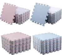 Large Interlocking EVA Soft Foam Kids Play Mat Floor Garden Room Yoga Tiles