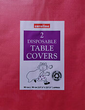 Paper Tablecloth Pack 2 Disposable Party Table Covers Red 3ft x 3ft Caroline