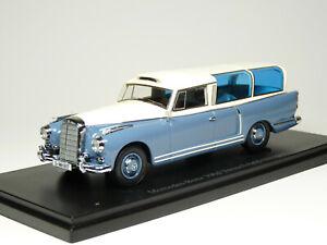 AutoCult 06006 1/43 1960 Mercedes-Benz 300d Wagon Test Recording Car Resin Model