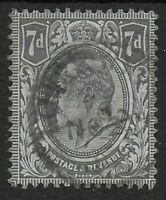 SG249.  7d.Grey-Black.  Fine Used and in Good Condition. Ref.0895
