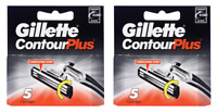 Gillette Contour Plus (Same as Atra Plus) Refill Blade, 5 Cartridges (2 Pack)