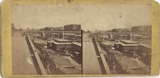 Paris La Seine France Photo Stéréo Stereoview Vintage albumine ca 1865