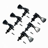 Black Tuning Pegs Tuners Machine Heads 3R3L for Electric Guitar Parts Keys