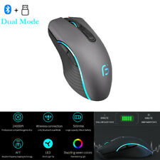 Mouse Bluetooth 4.0+ 2.4Ghz Wireless Dual Mode Mouse 2400DPI Ergonomic Portable