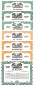 Hull Corporation > 1979-1990 Pennsylvania old stock certificate share
