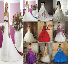New Stock Wedding Dresses Bridal/Bridesmaid Gown hot sale Stock Size: 6---16