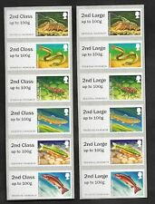 Error 2nd Class & 2nd Large on Freshwater Life: Rivers Post & Go strips.