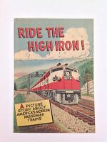 Ride the High Iron Jan 1957 Comic Book Association of American Railroads